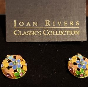 Joan Rivers Spring Button Earings
